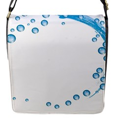 Water Swirl Flap closure messenger bag (Small)