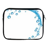 Water Swirl Apple iPad 2/3/4 Zipper Case Front
