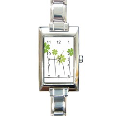 clover Rectangular Italian Charm Watch