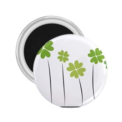 clover 2.25  Button Magnet