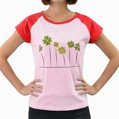 Clover Women s Cap Sleeve T Shirt (colored)