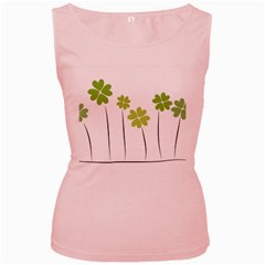Clover Womens  Tank Top (pink)