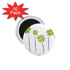 clover 1.75  Button Magnet (10 pack)