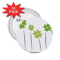 Clover 2 25  Button (10 Pack)
