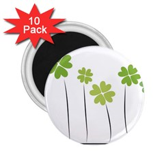 clover 2.25  Button Magnet (10 pack)