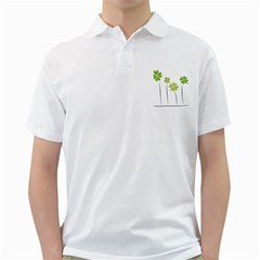 Clover Mens  Polo Shirt (white)
