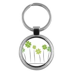 Clover Key Chain (round)