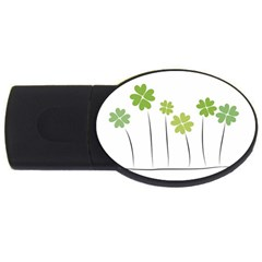clover 2GB USB Flash Drive (Oval)