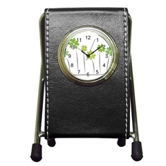 clover Stationery Holder Clock