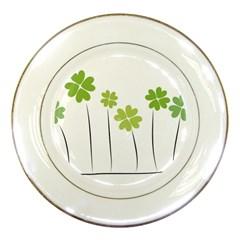 clover Porcelain Display Plate