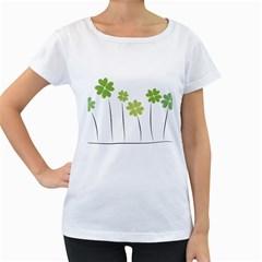 clover Womens' Maternity T-shirt (White)