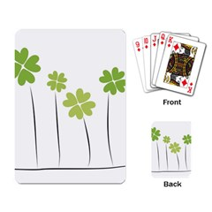 clover Playing Cards Single Design
