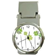 Clover Money Clip With Watch