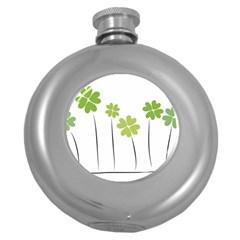 Clover Hip Flask (round)