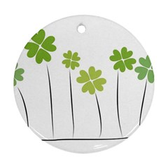 Clover Round Ornament (two Sides)