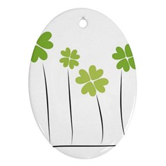 clover Oval Ornament (Two Sides)