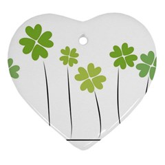 Clover Heart Ornament (two Sides)
