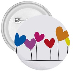 Heart flowers 3  Button