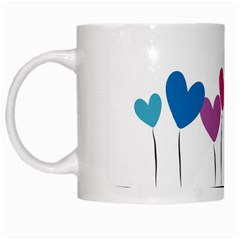 Heart flowers White Coffee Mug
