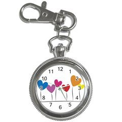 Heart flowers Key Chain & Watch