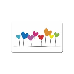 Heart flowers Magnet (Name Card)
