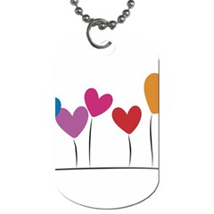 Heart flowers Dog Tag (Two Sided)