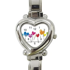 Heart flowers Heart Italian Charm Watch