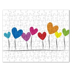 Heart Flowers Jigsaw Puzzle (rectangle)