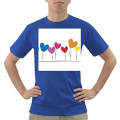 Heart flowers Mens' T-shirt (Colored)