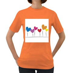 Heart Flowers Womens' T Shirt (colored)