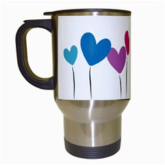 Heart flowers Travel Mug (White)