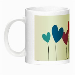 Heart flowers Glow in the Dark Mug