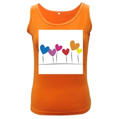 Heart flowers Womens  Tank Top (Dark Colored)