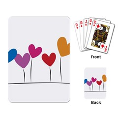 Heart flowers Playing Cards Single Design