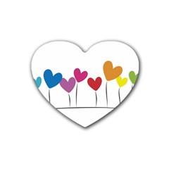 Heart Flowers Drink Coasters (heart)