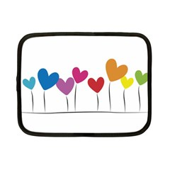 Heart Flowers Netbook Case (small)