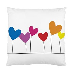 Heart Flowers Cushion Case (two Sides)