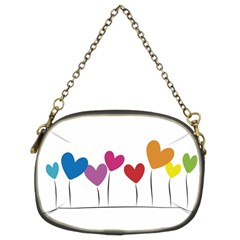 Heart Flowers Chain Purse (two Side)