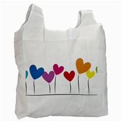 Heart flowers Recycle Bag (One Side)