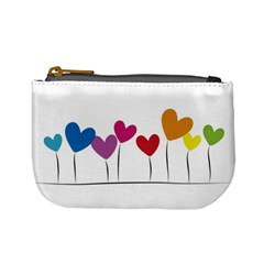 Heart Flowers Coin Change Purse