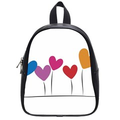 Heart flowers School Bag (Small)
