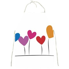 Heart Flowers Apron