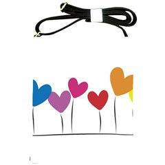 Heart flowers Shoulder Sling Bag