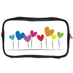 Heart Flowers Travel Toiletry Bag (two Sides)