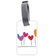 Heart flowers Luggage Tag (One Side)