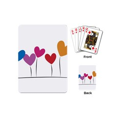 Heart flowers Playing Cards (Mini)