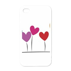 Heart Flowers Apple Iphone 4 Case (white)