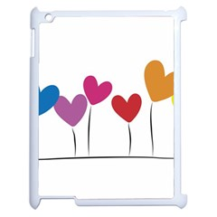 Heart flowers Apple iPad 2 Case (White)