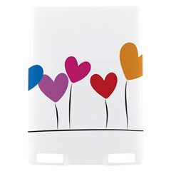 Heart flowers Kindle Touch 3G Hardshell Case