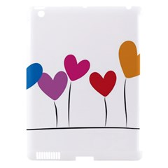Heart Flowers Apple Ipad 3/4 Hardshell Case (compatible With Smart Cover)